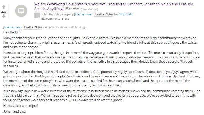 Westworld | Criadores querem combater spoilers da série liberando spoilers
