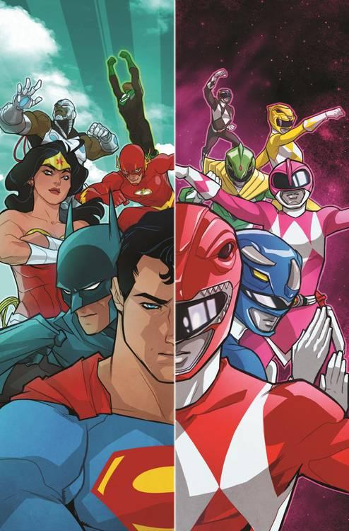 Liga da Justiça e Power Rangers | Superman se une aos Rangers em nova capa  - veja