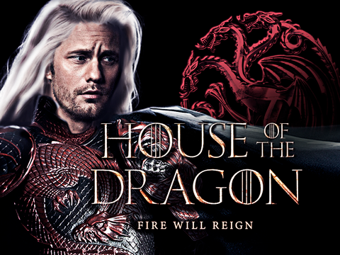 Símbolo da Casa Targaryen retirado do pôster de House of the Dragon/HBO