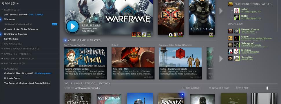 The Enemy - Biblioteca do Steam terá design renovado