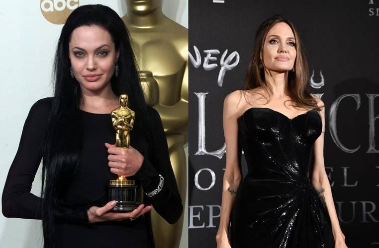 Angelina Jolie em 2000 e 2020